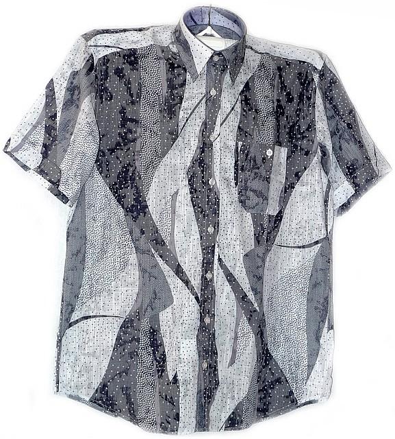 Приталенная сорочка короткий рукав
