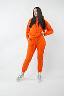 Оранжевый Свободный Женский Спортивный Костюм