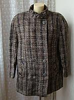 Пальто женское элегантное теплое шерсть р.52-54 4446а от Chek-Anka