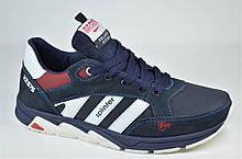 Подростковые и женские кожаные кроссовки синие Splinter 0514