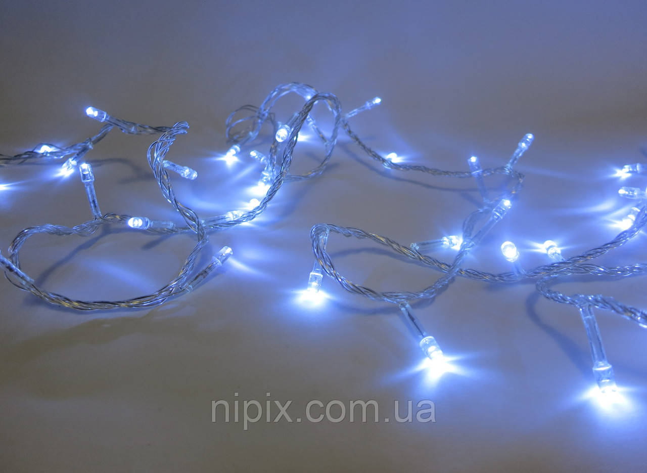 Гирлянда LED 300 лампочек на 13,5 м белая