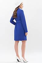 Модный женский плащ королевского синего цвета  размеры 42 44 46 48 50, фото 2