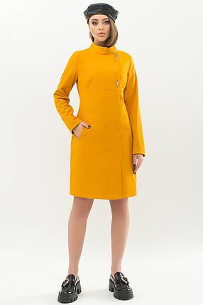 Модный женский плащ горчичного цвета  размеры 42 44 46 48 50, фото 2