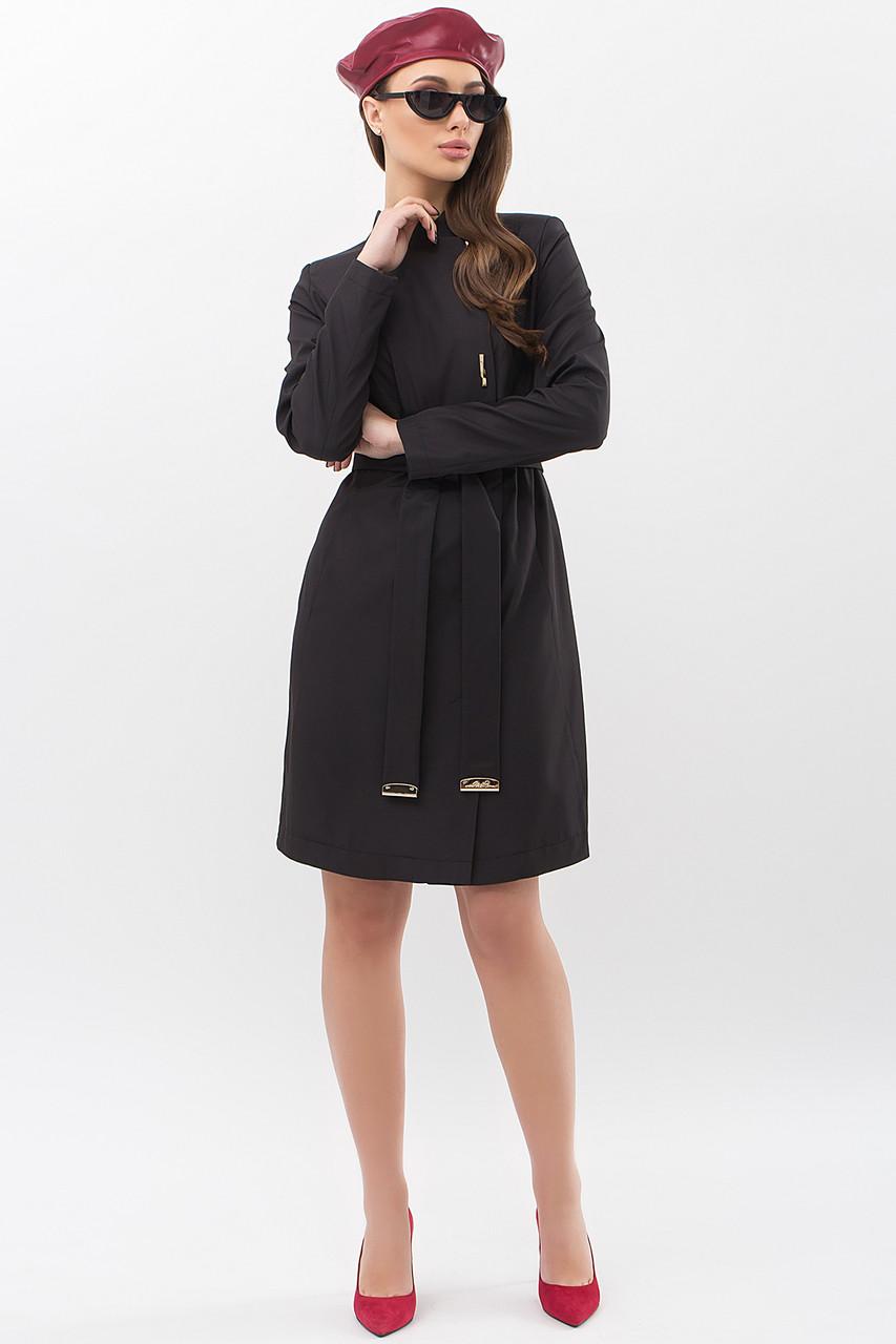 Модный женский плащ черного цвета  размеры  44 46 48