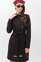 Модный женский плащ черного цвета  размеры  44 46 48, фото 2