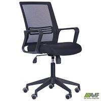 Кресло Джун сиденье Саванна nova Black 19/спинка Сетка черная