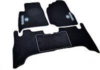 Коврики в салон ворсовые для Toyota Land Cruiser 100 (1998-2007) /Чёрные, кт. 5шт BLCCR1632, фото 1