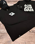 Мужская спортивная футболка черная, фото 3