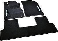Коврики в салон ворсовые для Honda CR-V (2012-) (АКПП) /Чёрные, кт. 3шт BLCCR1207, фото 1