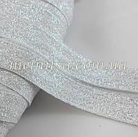 Резинка для повязок (эластичная тесьма), серебристая
