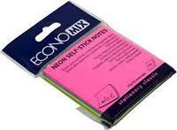 Блок для нотаток з клейким шаром 75х75 мм Economix, 100 арк., неон мікс 20948