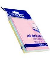 Блок для нотаток з клейким шаром 75х75 мм Economix, 100 арк., пастель мікс 20936