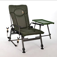 Кресло карповое складное Elektrostatyk F5R ST/P со столиком и подставкой для удочки [New 2021]