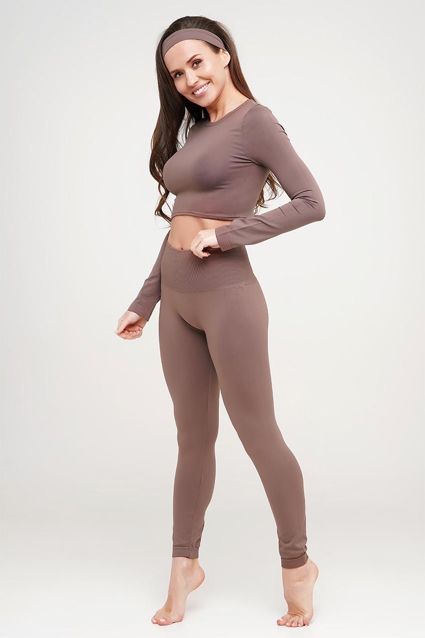 Безшовні спортивні жіночі легінси