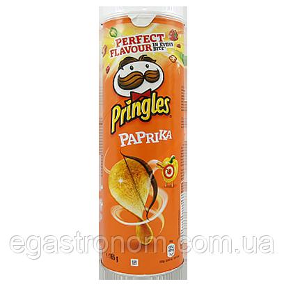 Чіпси Прінглс паприка Pringles paprika 165g 19шт/ящ (Код : 00-00005661)