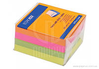 Блок для нотаток з клейким шаром 75х75 мм Economix, 400 арк., неон мікс 20949