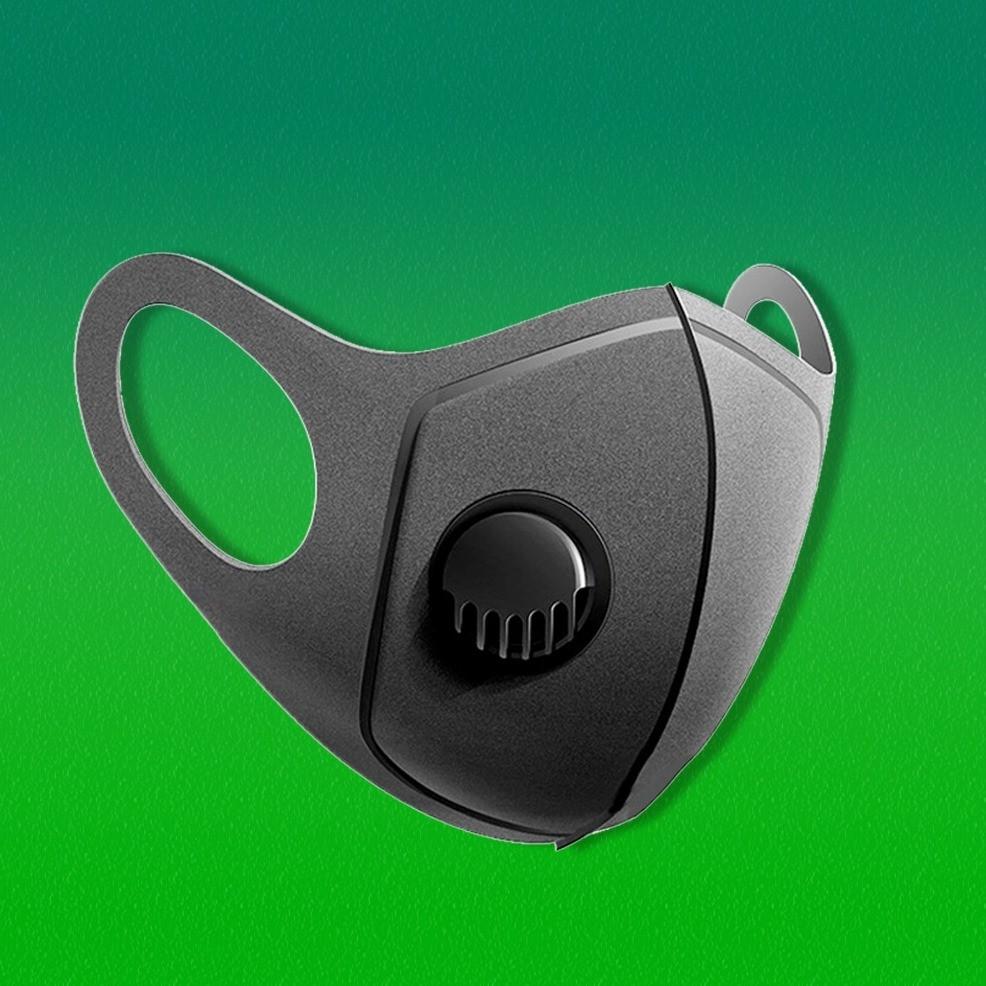 Дропшиппинг. Многоразовая маска Pitta GREEND MASK с клапаном выдоха Черная