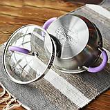 Каструля з нержавіючої сталі 4,7 л 24 x 12,5 см Fissman Annette 5482, фото 6