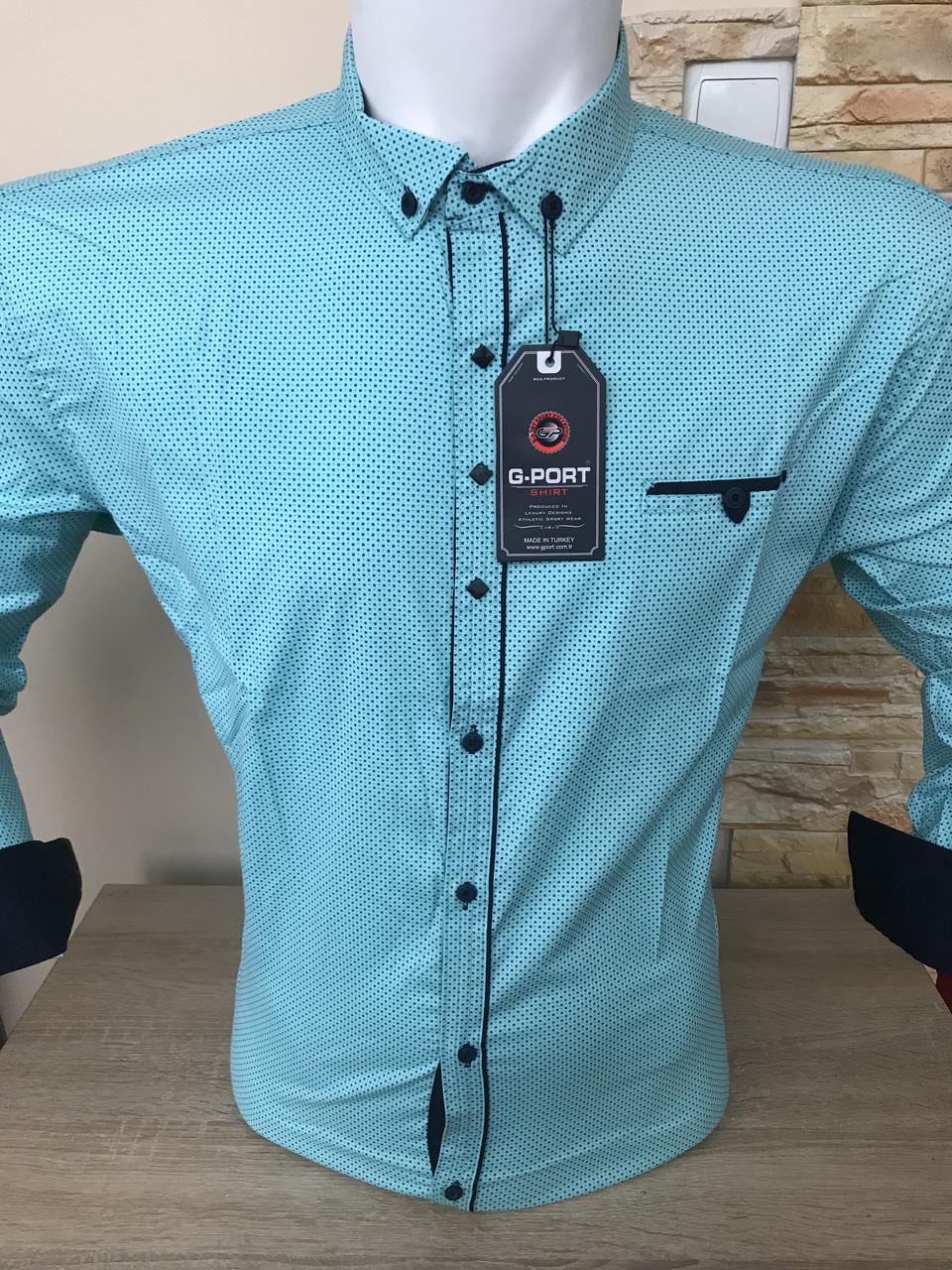 Батальная рубашка стрейч-коттон G-port *725