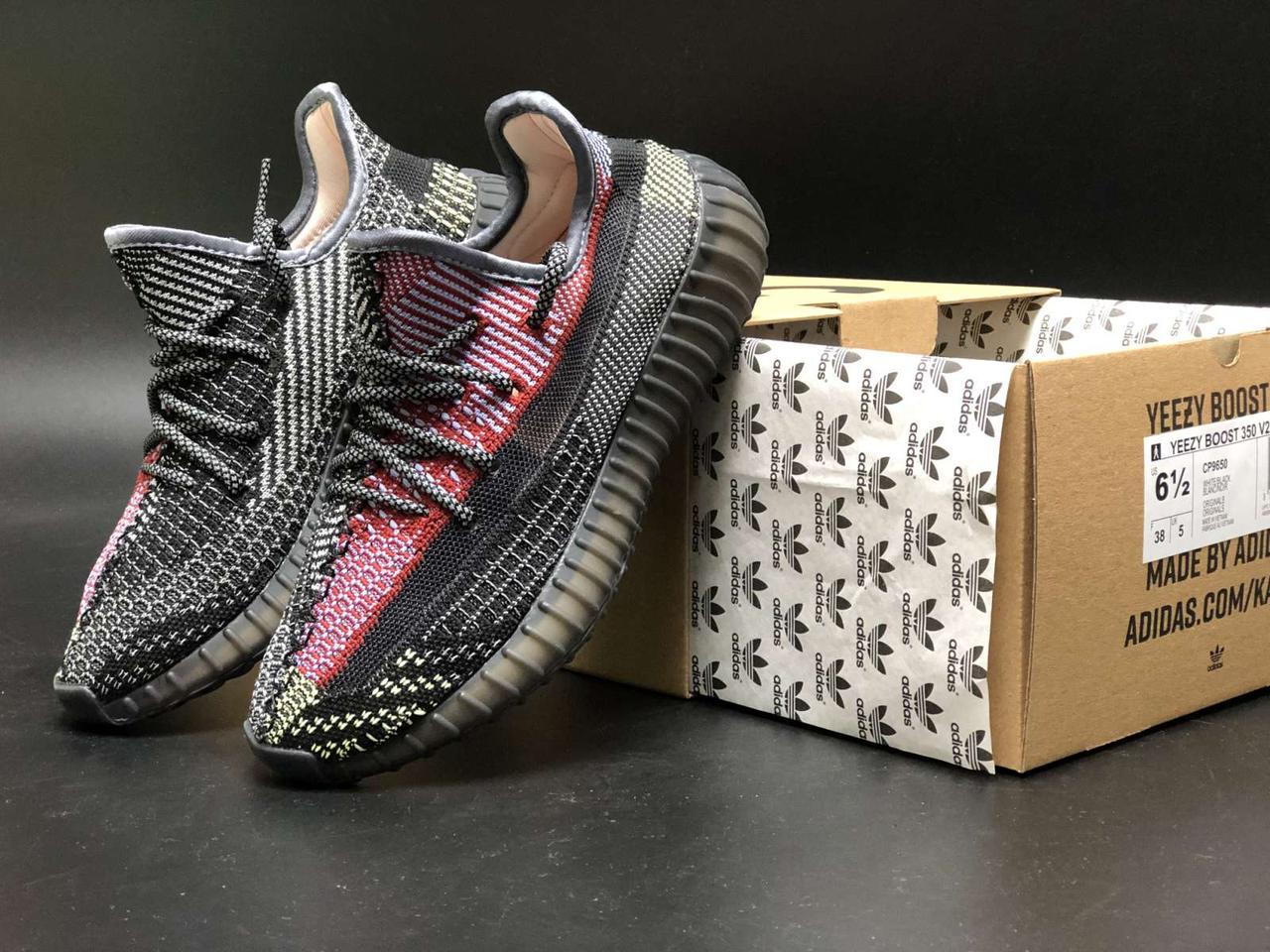 Мужские черные Кроссовки Adidas Yeezy Boost 350