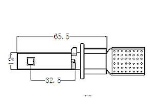 Комплект светодиодных ламп G5 с цоколем Н27/2 (881) Luxeon MZ в противотуманные фонари, 3000 Люмен/комплект, фото 2