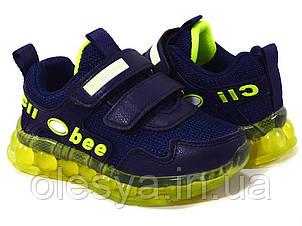 Кроссовки детские с подсветкой подошвы для мальчиков Clibee led Размеры 27, 29,  Хит продаж!
