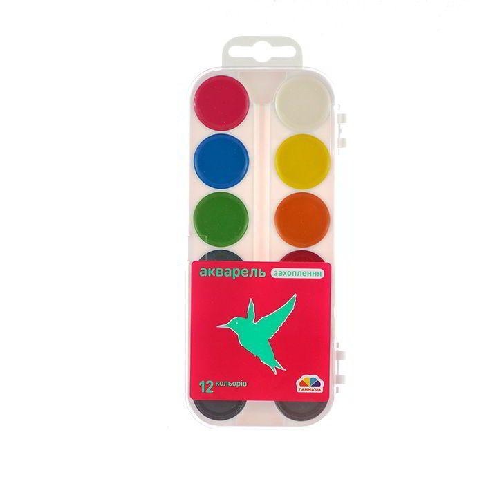 Краски акварельные «Захоплення» Гамма 12 цв.