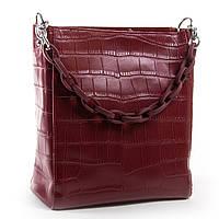Красная классическая женская сумка из натуральной кожи 24*26*13см ALEX RAI (03-01 9704 wine-red)