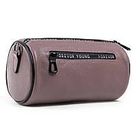 Молодежная фиолетовая женская сумка-клатч из натуральной кожи 23*12*12см  ALEX RAI (1-02 39030-9 purple)