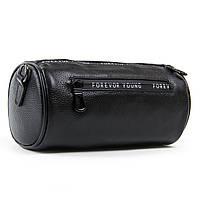 Маленькая черная женская сумка-клатч из натуральной кожи 23*12*12см  ALEX RAI (1-02 39030-9 black)