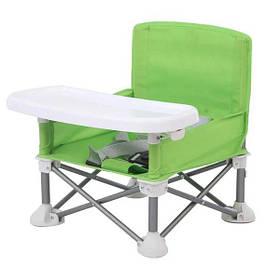 Складаний тканинний стільчик для годування Baby Seat Зелений