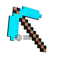 Пиксельная алмазная кирка Майнкрафт Minecraft Diamond Pick