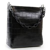 Женская сумка из натуральной кожи цвет черный 24*26*13см ALEX RAI (03-01 9704 black)