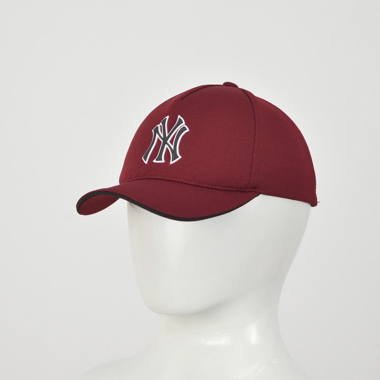 "Бейсболка ""Большой значек"" Лакоста (резина) NY  бордо"
