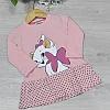 Детское трикотажное платье, размер 1-4 года (4 ед. в уп. ), Розовый