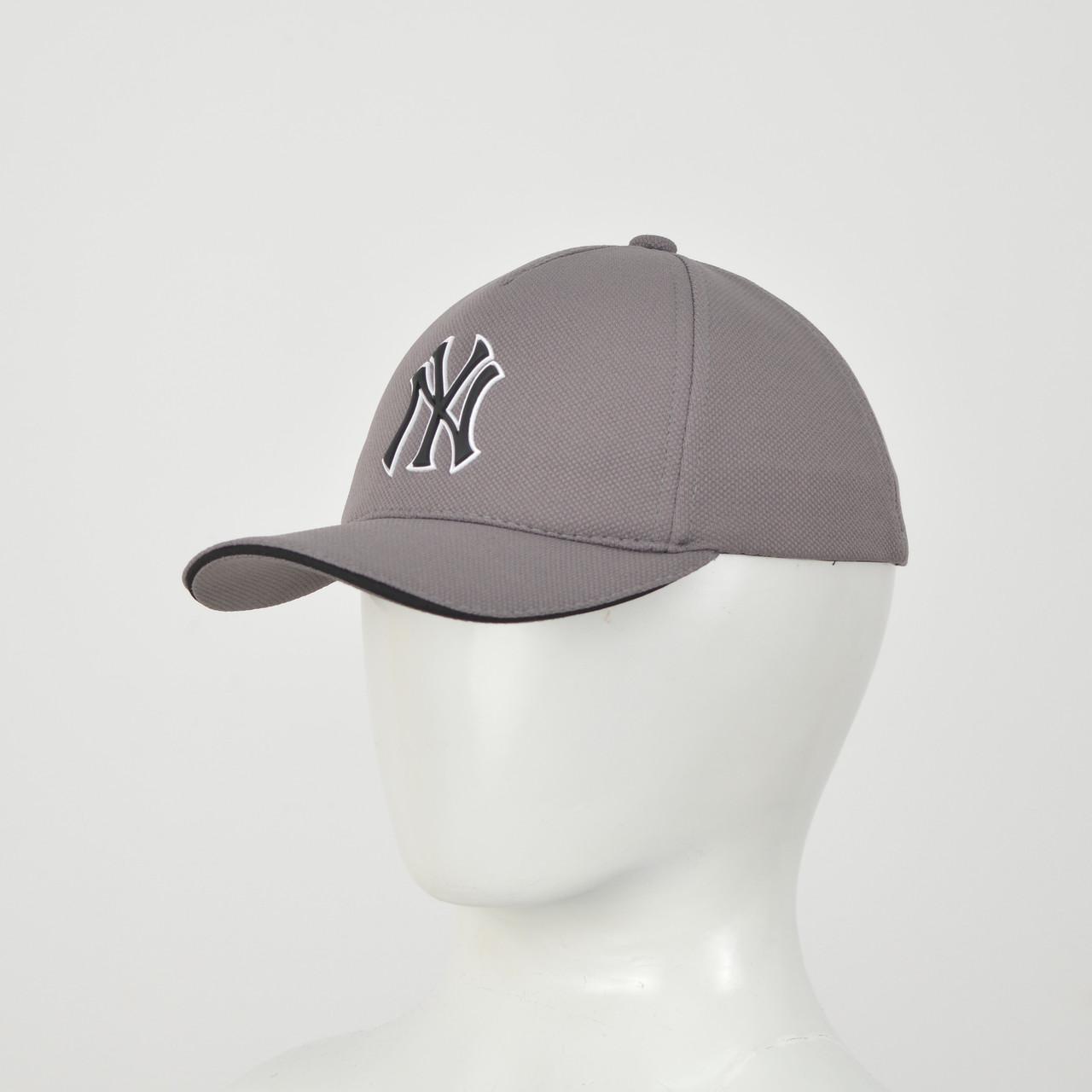 "Бейсболка ""Большой значек"" Лакоста (резина) NY  серый"