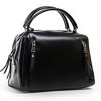 Черная вместительная женская сумка натуральная кожа 32*24*15 см ALEX RAI (03-01 8763 black)