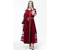 Жіноча вишита сукня з натурального льону