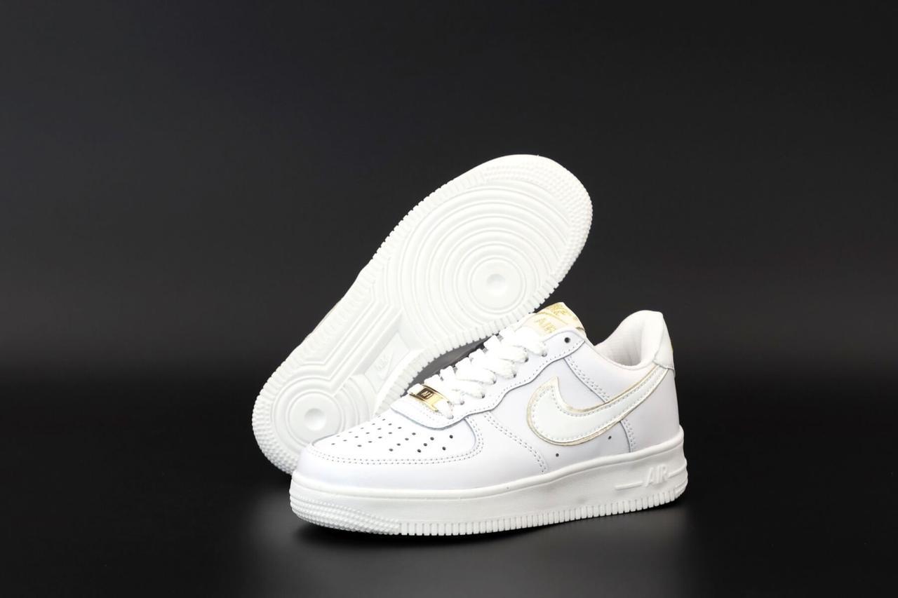 Белые низкие кроссовки Nike Air Force 1 Low White (Кроссовки Найк Аир Форс женские и мужские размеры 36-45)