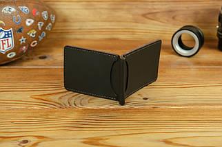 Зажим для денег, кожа Grand, цвет коричневый, оттенок Шоколад, фото 3