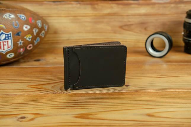 Зажим для денег, кожа Grand, цвет коричневый, оттенок Шоколад, фото 2