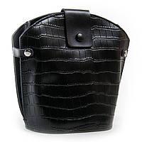 Красивая женская сумка натуральная кожа, цвет черный 24*24*13см ALEX RAI (03-01 2237 black)