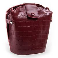 Кожаная женская сумка, цвет бордовый 24*24*13см ALEX RAI (03-01 2237 red)