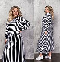 Женский юбочный костюм большого размера.Размеры:48/50,52/54,56/58+Цвета