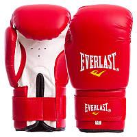 Перчатки длябокса EverlastMA-0033  10 унций виниловые (Красный)