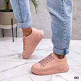 Кросівки жіночі рожеві еко шкіра весна/ осінь, фото 3