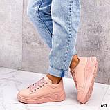 Кросівки жіночі рожеві еко шкіра весна/ осінь, фото 7