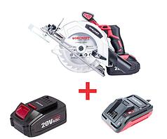 Набір Пила циркулярна акумуляторна (с АКБ 4А и ЗУ ) Worcraft CCS-S20Li