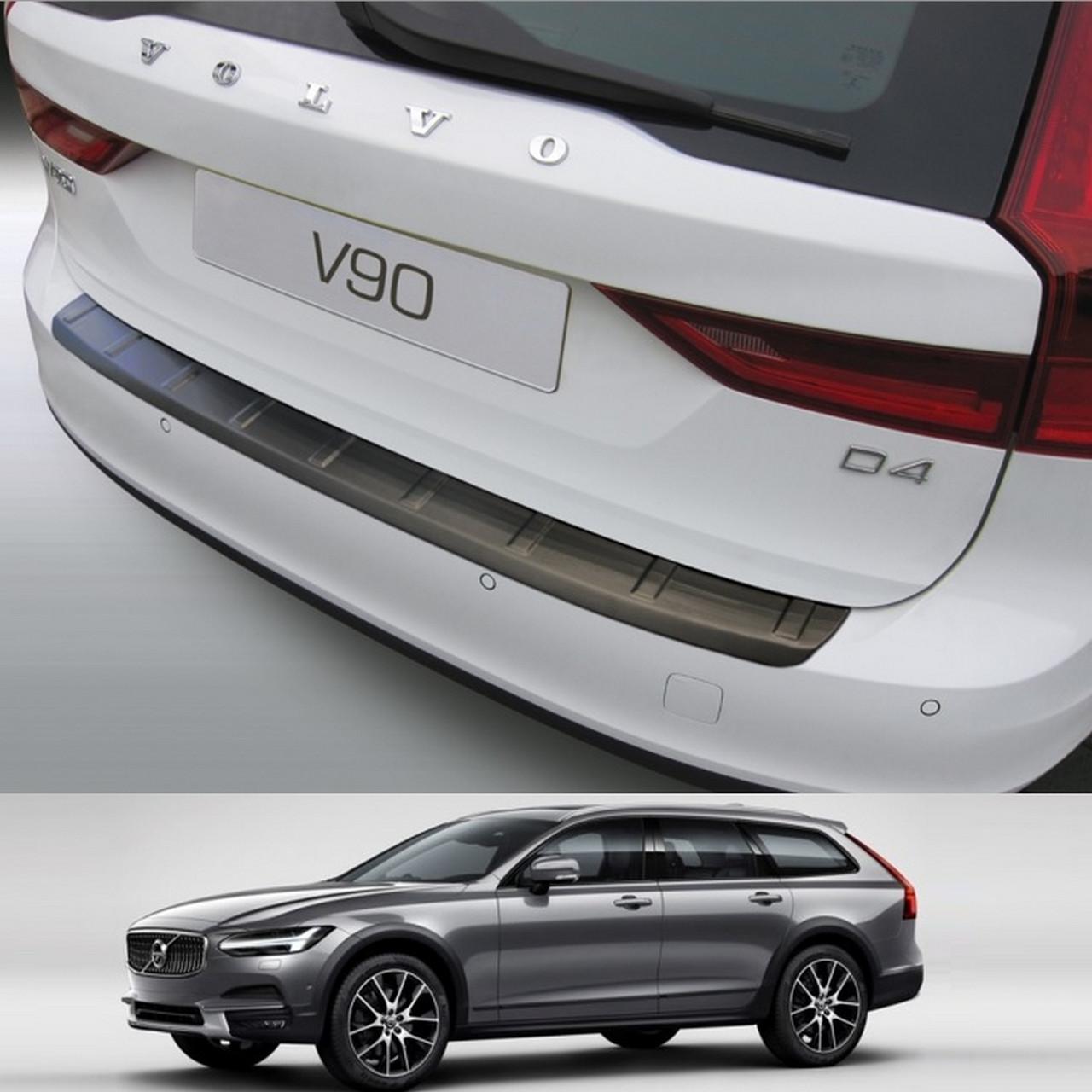 Пластиковая накладка на задний бампер для Volvo V90 9.2016+