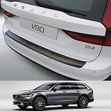 Пластикова накладка на задній бампер для Volvo V90 9.2016+